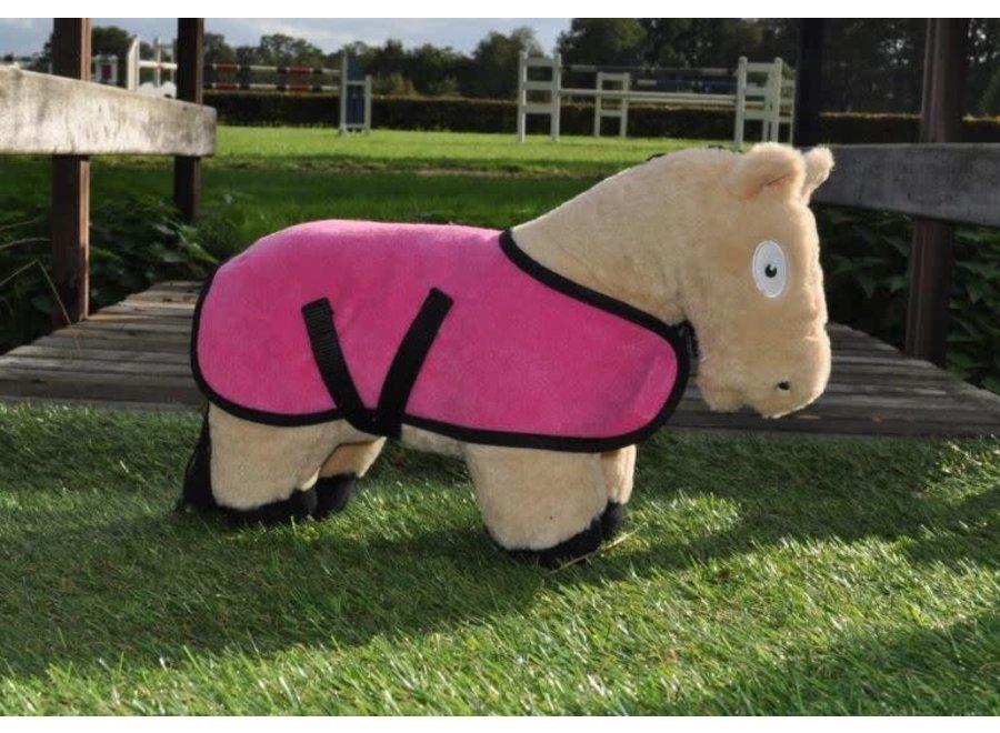 Crafty Ponies fleecedeken roze incl. boekje