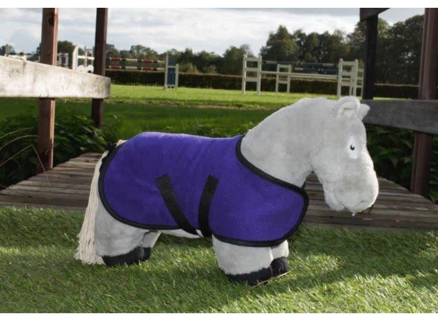 Crafty Ponies fleecedeken paars incl. boekje