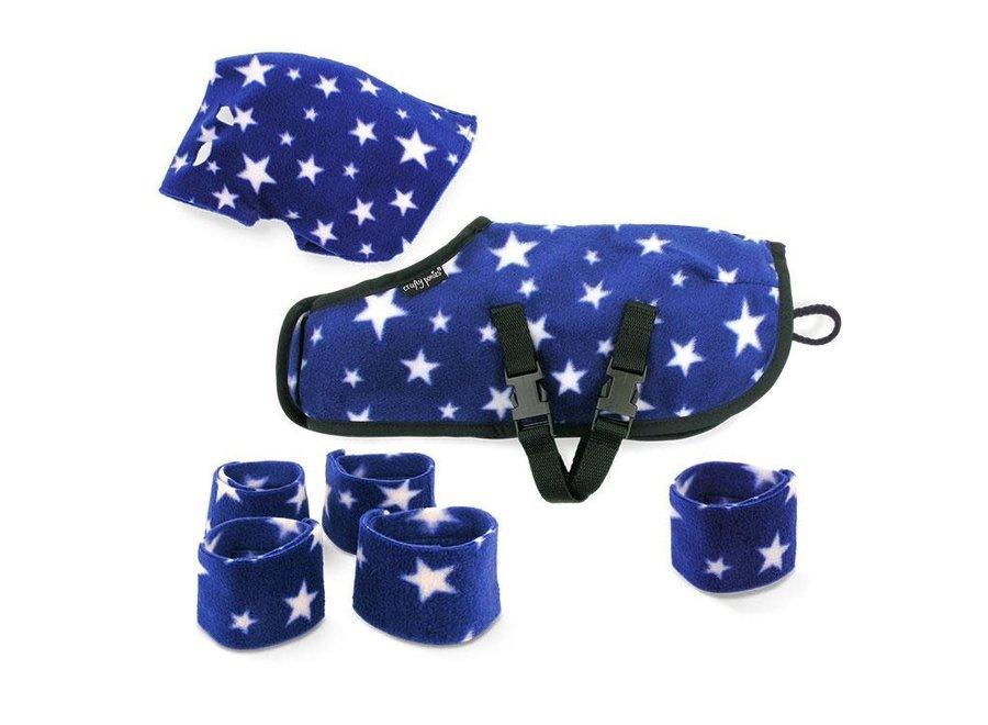 Crafty Ponies knuffeldekenset blauw incl. boekje