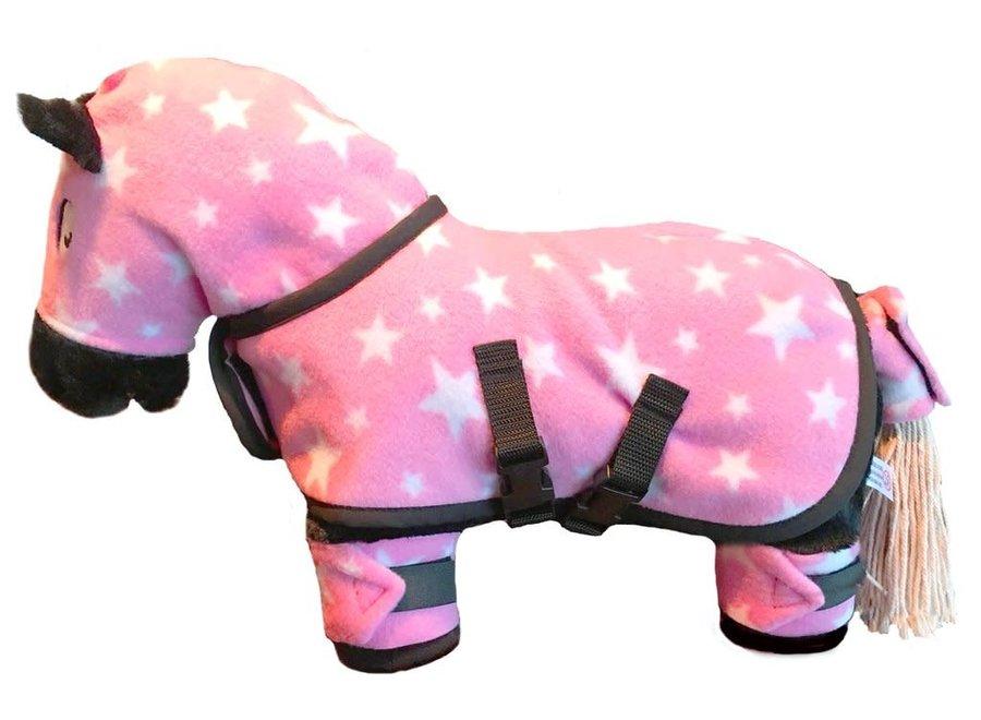 Crafty Ponies knuffeldekenset roze incl. boekje