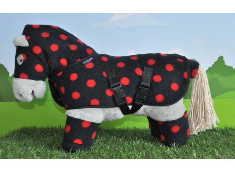 Crafty Ponies knuffeldekenset rode stip incl. boekje