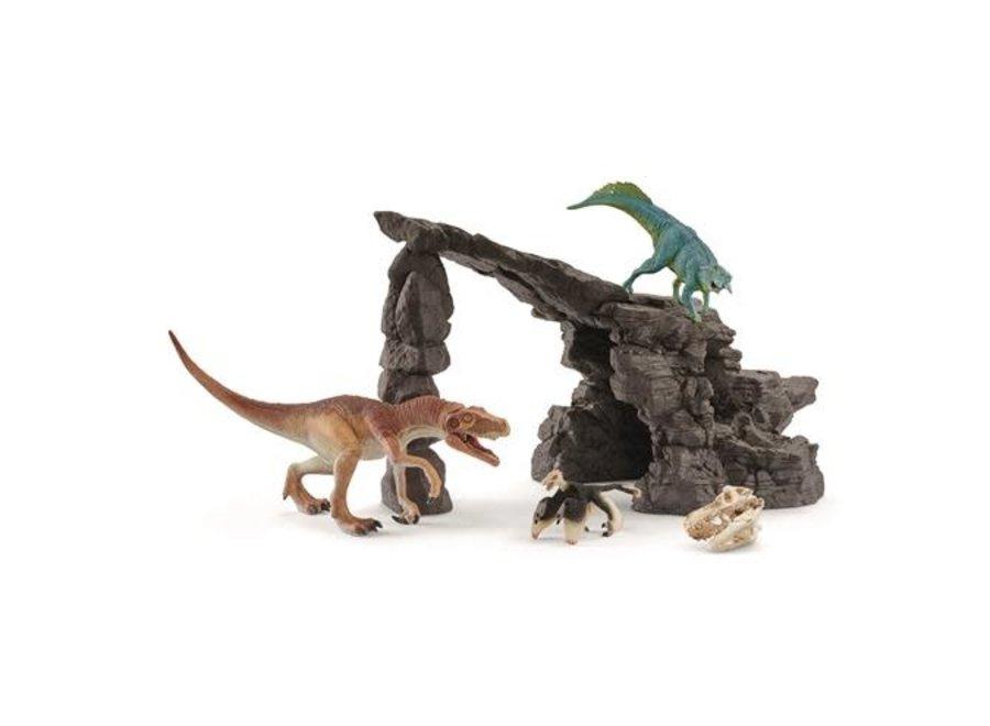 Dinosaurus met grot