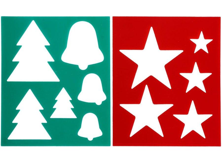 Borstelpatroon kerst motief