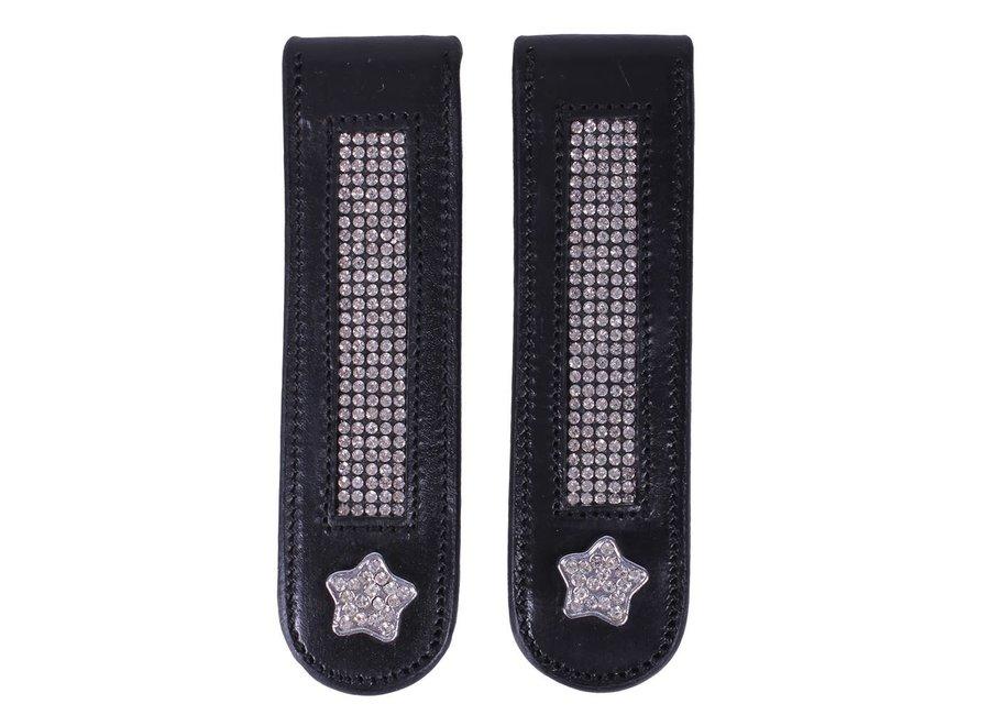 Laarzenclip Star zwart/zilver
