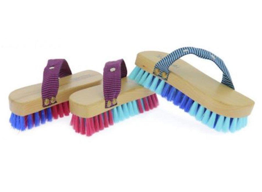 Magnet Brush bicolor zachte borstel blauw/felblauw