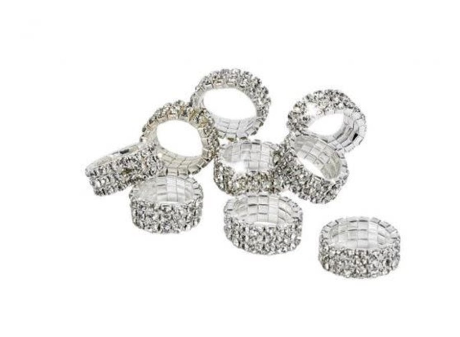 Elastische manenringen Crystal klein per 10