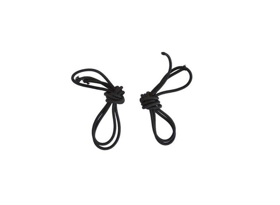 Elastische veters voor rijlaarzen zwart