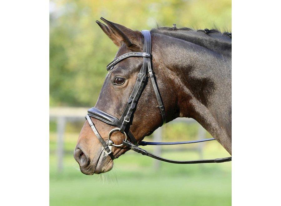 Hoofdstel Fame Black/Crystal Grey Multi Pony