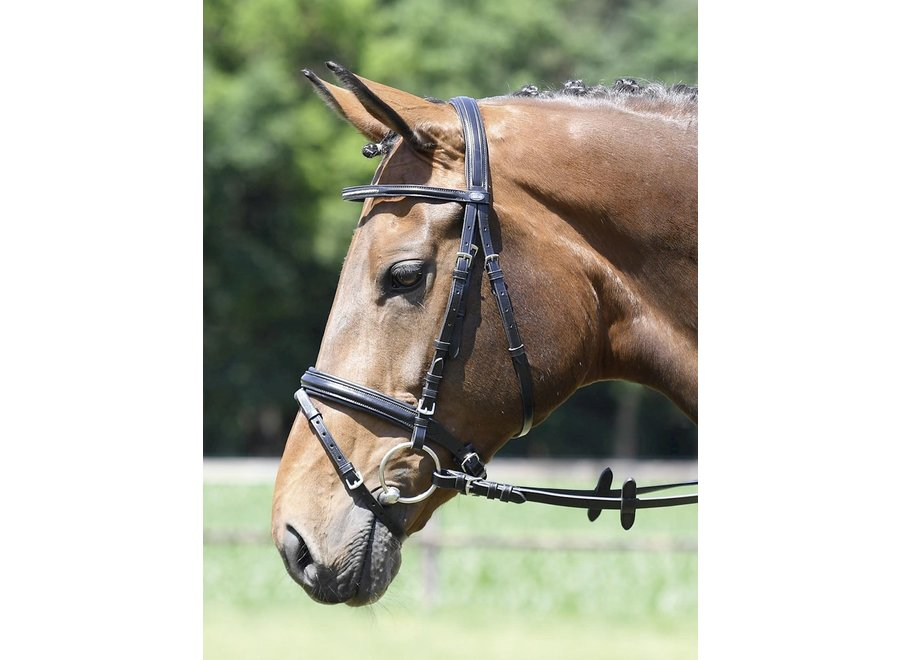 Hoofdstel Single-Soft black/crystal Pony