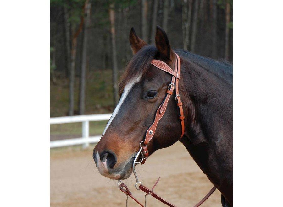 Hoofdstel Western Ray Chestnut Pony