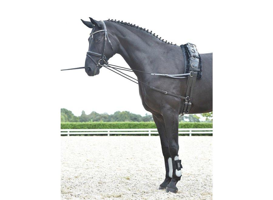 Laufferteugel Basic-kordel zwart cob/full