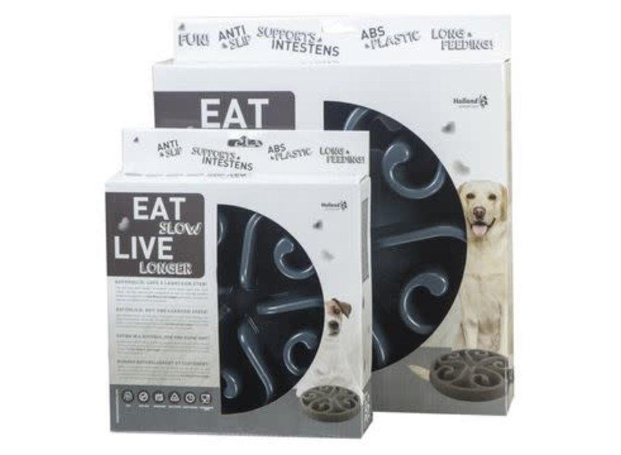 Eetbak hond Eat Slow Live Longer Grijs large