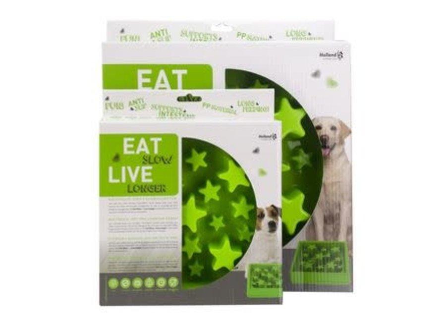 Eetbak hond Eat Slow Live Longer Ster Groen small