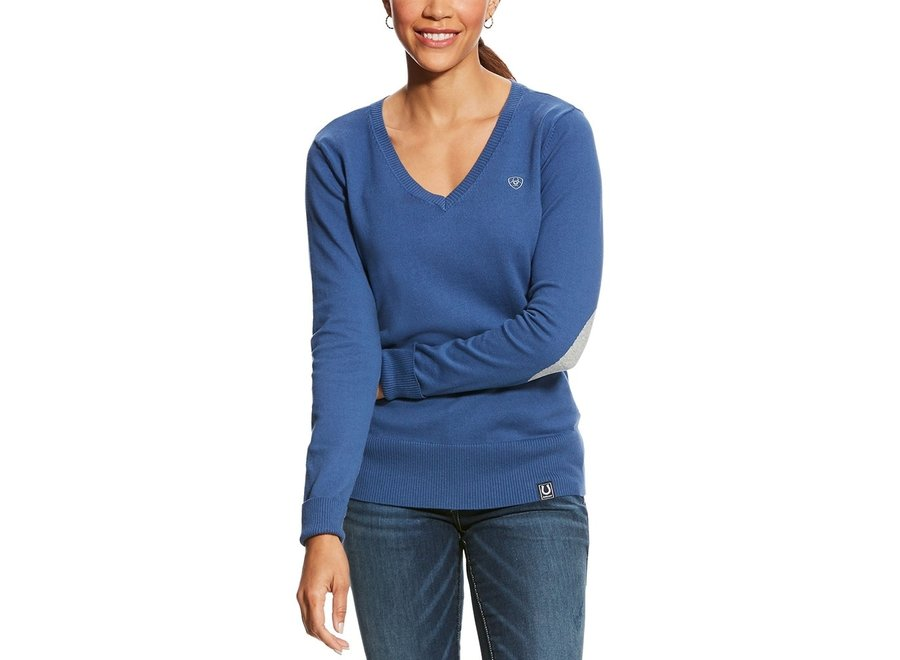 Cotton Ramiro Sweater Blue Saga Medium SS18