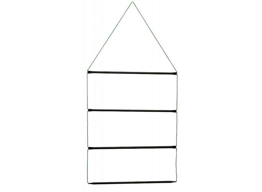 Dekenrek ladder metaal en koord zwart