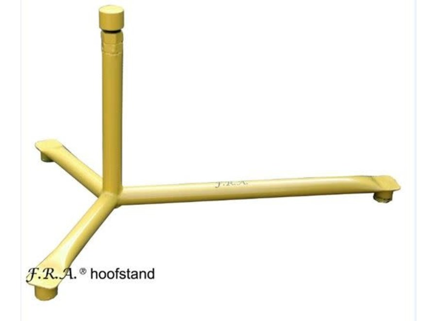 Hoefbok metaal in hoogte verstelbaar geel