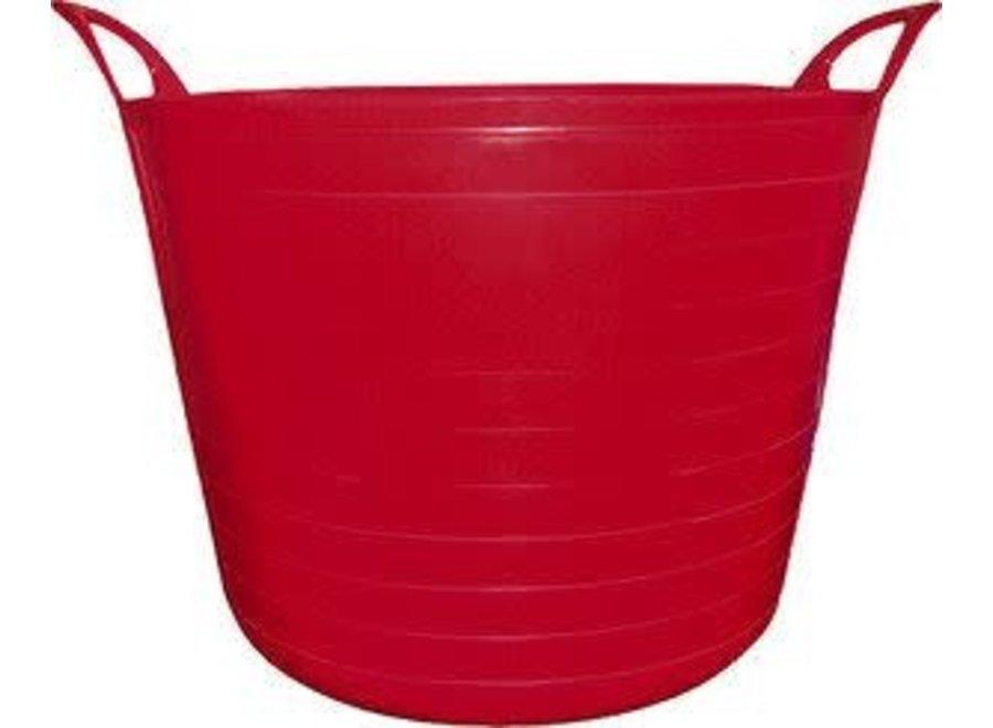 Flexi emmer 40 liter rood