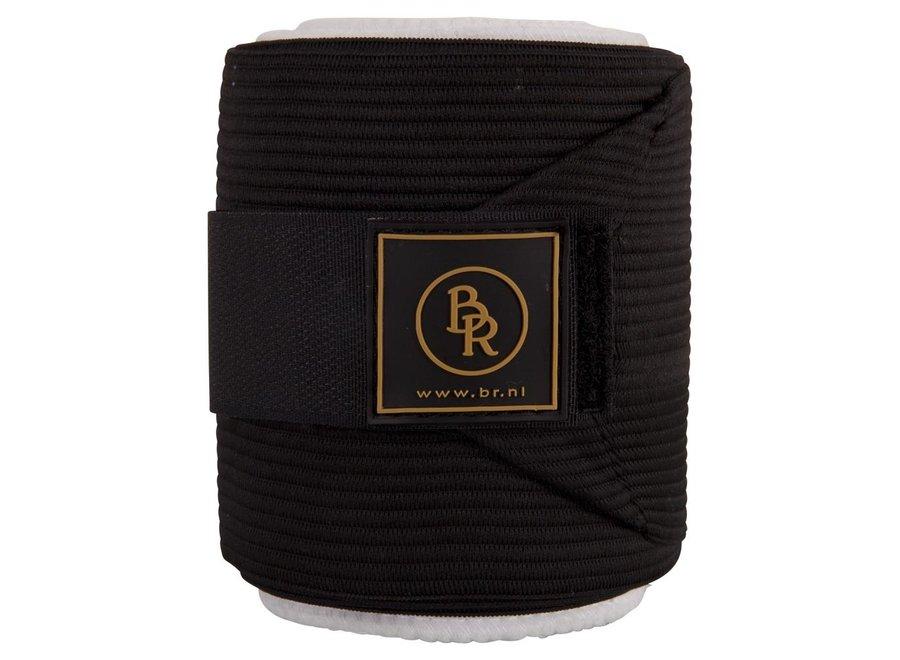 Bandages polyester Climatex met onderlap 3m per paar Zwart