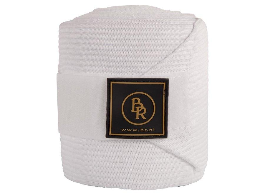 Bandages polyester Climatex met onderlap 3m per paar Wit