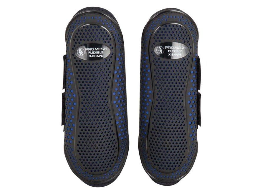 Beenbeschermer Pro Mesh X-Shape Black/Blue