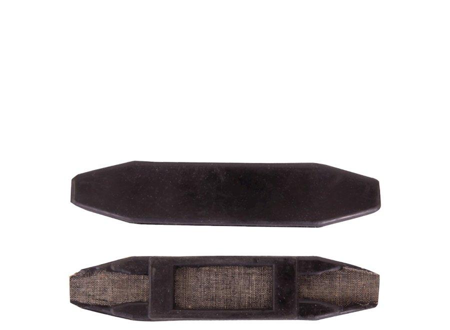 Kinkettingbeschermer rubber Zwart
