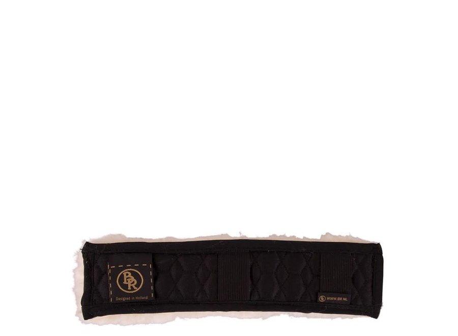 Neusriembeschermer  bont  5cm breed Zwart/Zwart