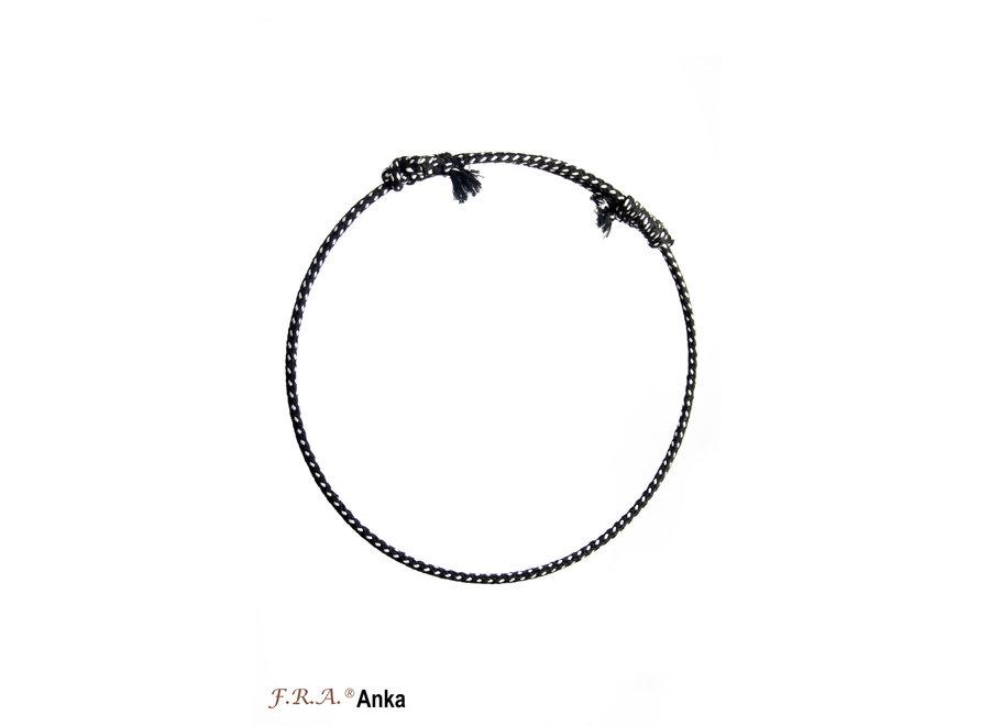 Anka rijring 12mm zwart/wit