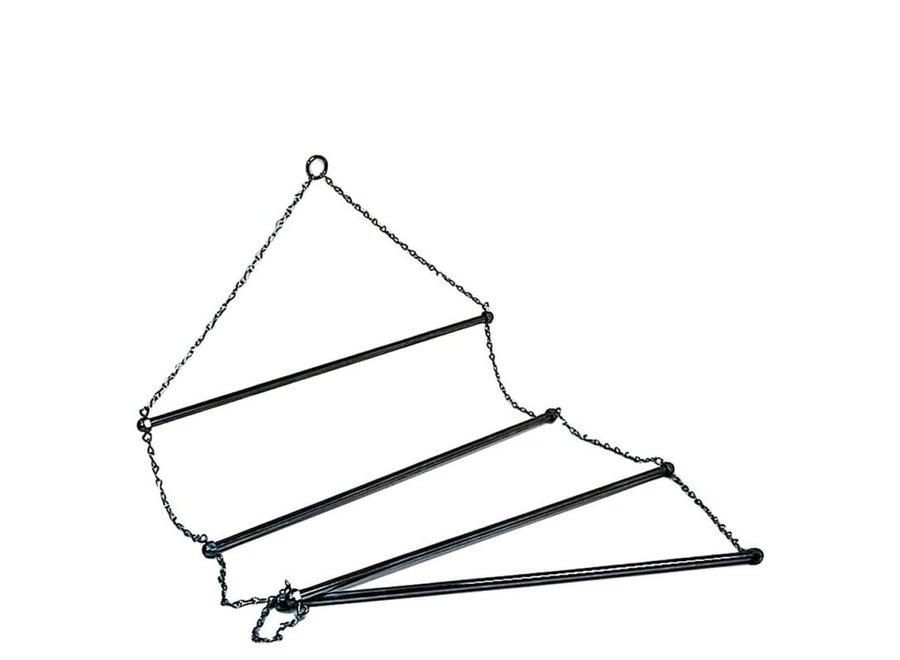 Dekenrek ladder chroom voor 4 dekens