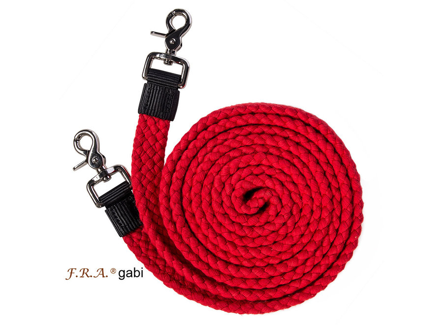 Gabi vlakke touwteugel katoen met clips 300cm rood