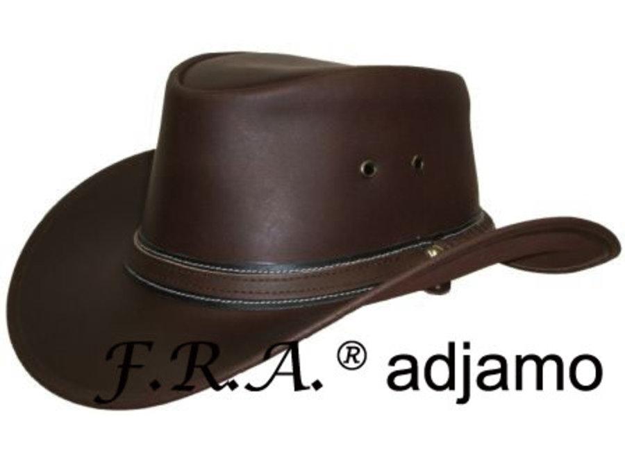 Adjamo hoed rundleder bruin