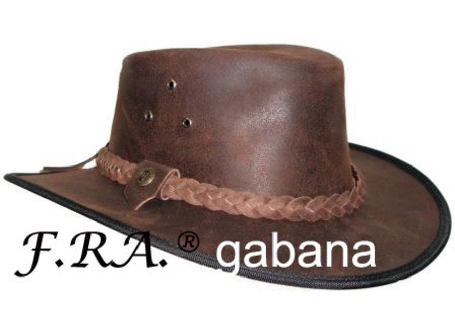 Gabana hoed geborsteld leder bruin