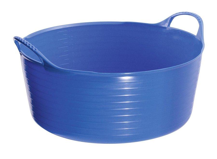 Lage emmer Tubtrug 15 liter blauw