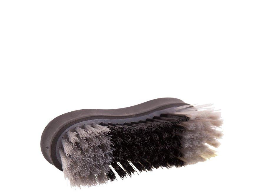 Hoofdborstel Soft Grip Zwart/Grijs