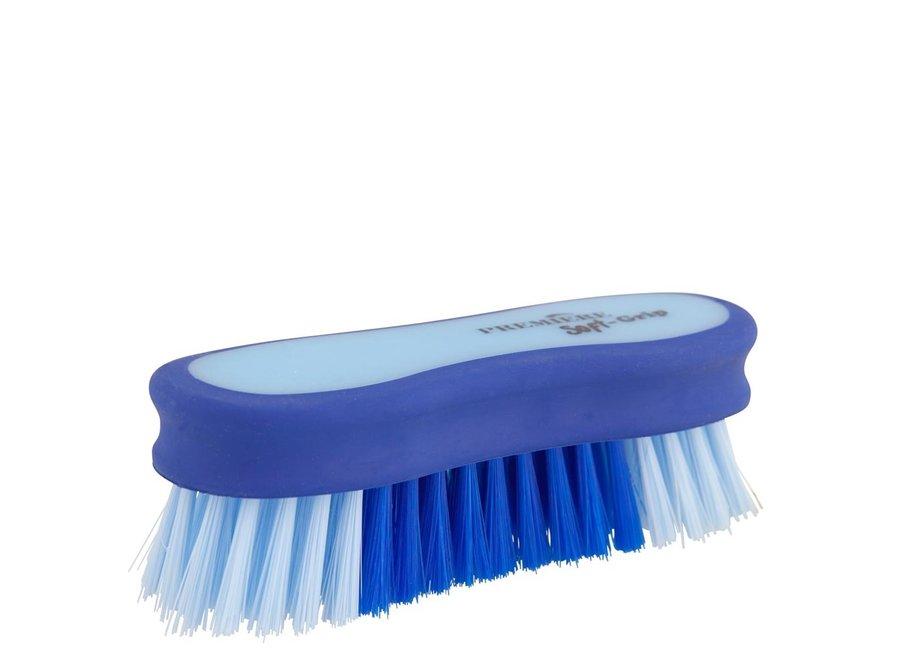 Hoofdborstel Soft Grip Kobalt/lichtblauw