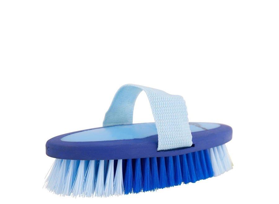 Bodyborstel Soft Grip zacht medium kobalt/lichtblauw