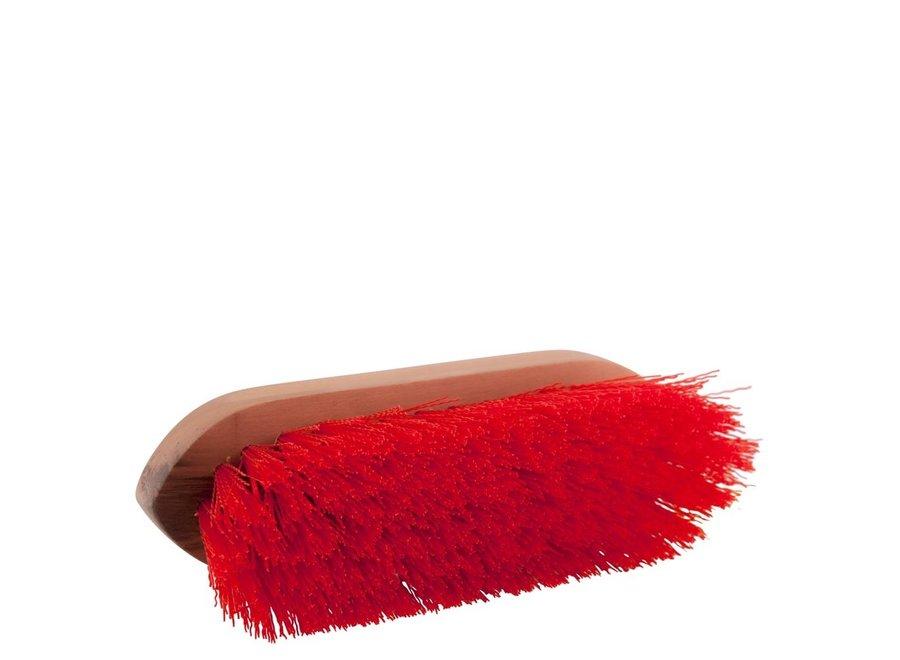Borstel Dandy medium houten rug Rood