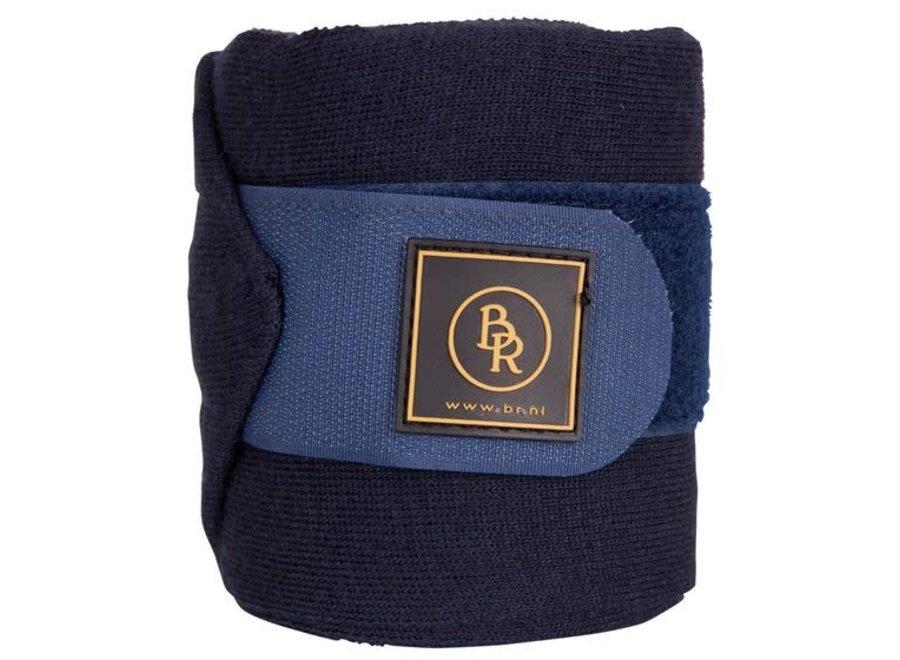 Bandages acryl 400x11cm set per 4 in luxe tas Blauw