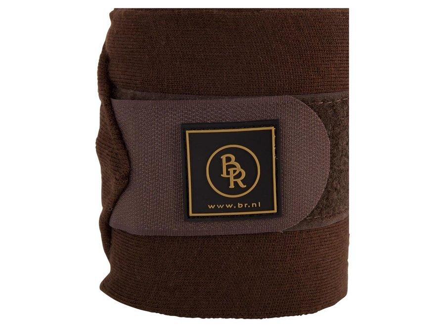 Bandages acryl 400x11cm set per 4 in luxe tas Bruin