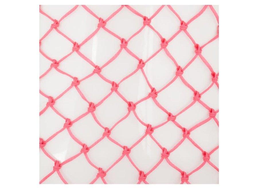 Hooinet standaard fijne maas 4x4cm roze