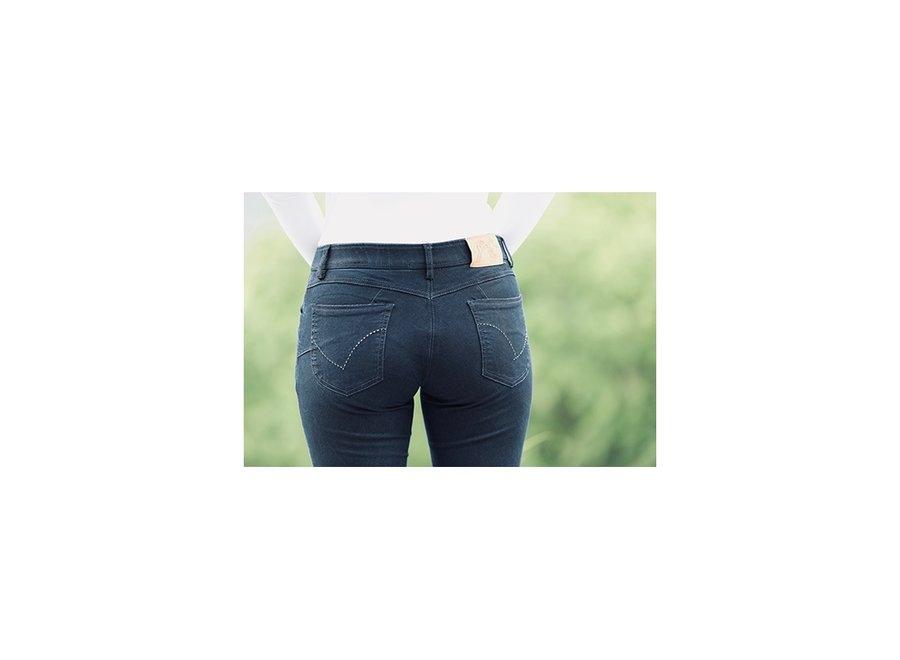Rijbroek Jeans Knee Grip Dark Denim