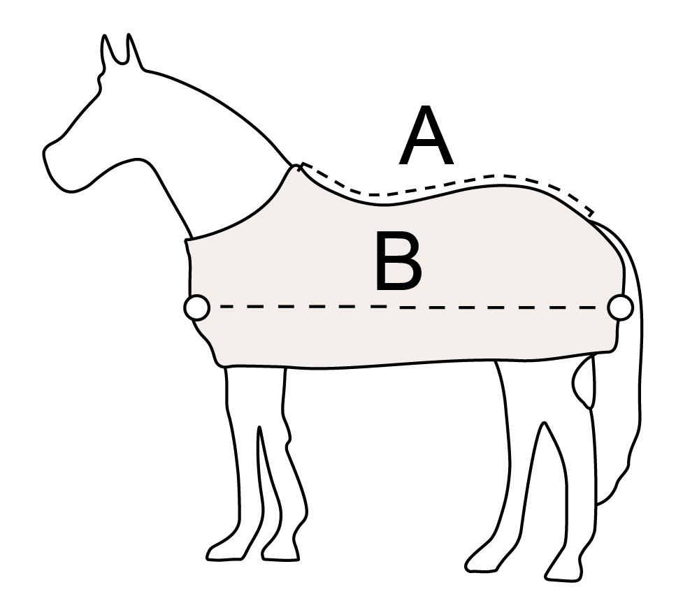bovenmaat (A) - ondermaat (B)