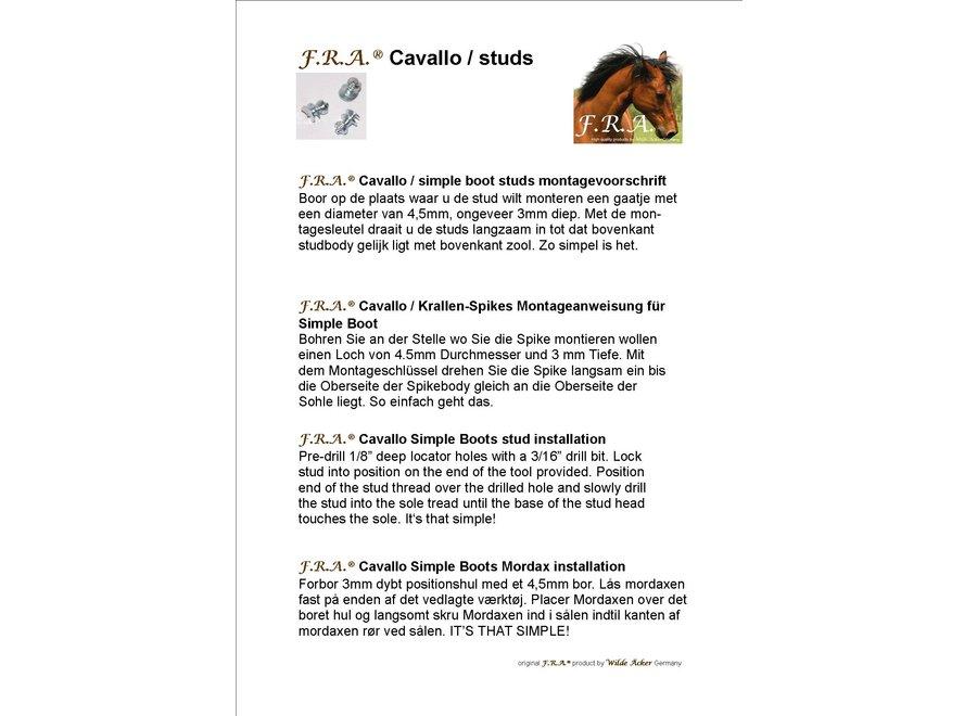 Cavallo-set 12 Studs voor Hoefschoenen + Sleutel