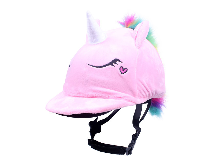 Helmovertrek Eenhoorn roze