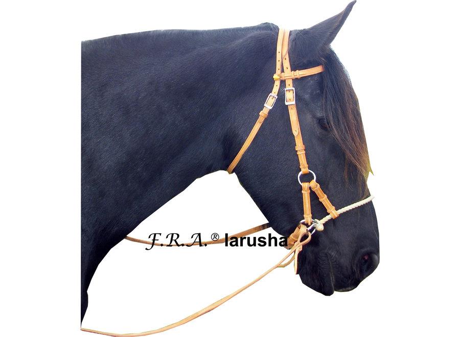 Larusha Sisal Neusriem Sidepull - met teugels