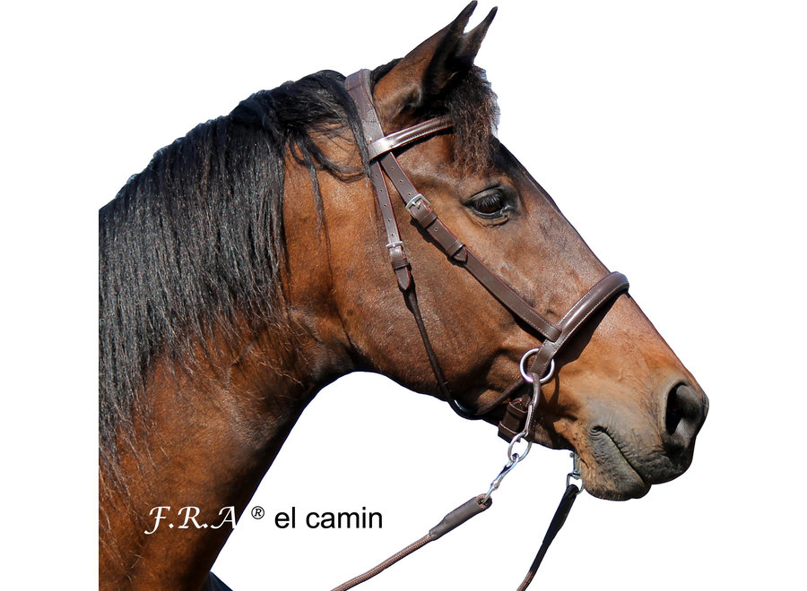 El Camin Bitloos Hoofdstel rondgestikt - met teugels