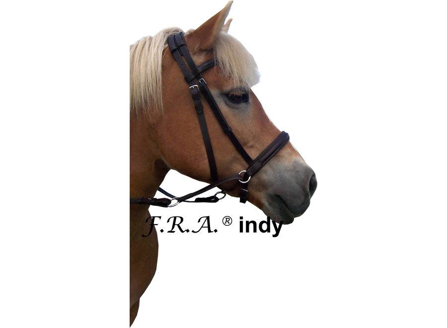 Indy hoofdstel met teugels