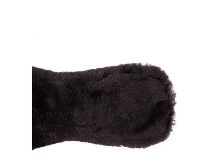 Singel dressuur Sheepskin anatomisch bont Zwart/Zwart