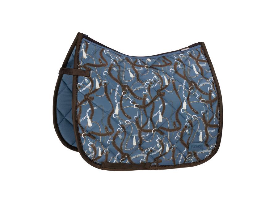 Zadeldek Platinum Glossy Dessin DR Vintage Blue Full