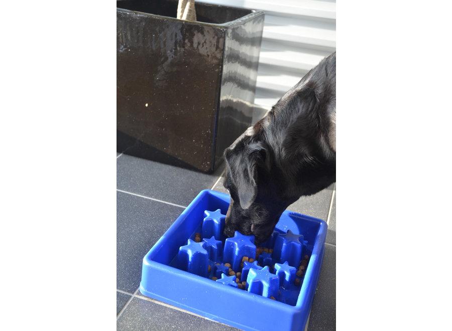 Eetbak hond Eat Slow Live Longer Ster Blauw S