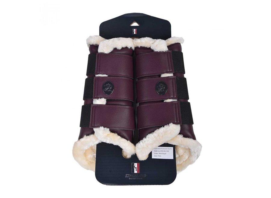 KL Inayat Back Protection Boots Red Port Royal Full